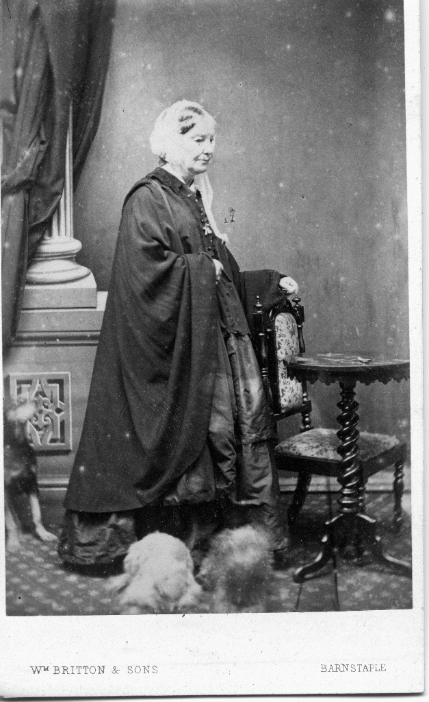 Elme D Beving Carte De Visite Given To Lady Mary Ann Meek On Mothers Day 1863 By Cesar Mitkiewtcz Of Bruxelles