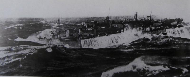 HMS Peyton in rough weather